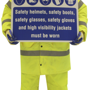 Life size cut out safety figure