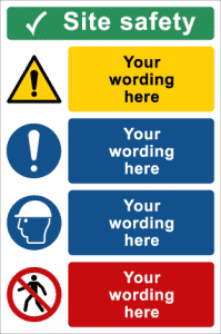Large Site Safety Signs
